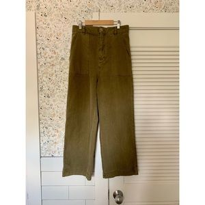 Free People High Waisted Wide Legged Pants